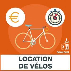 Emails vente et location vélos