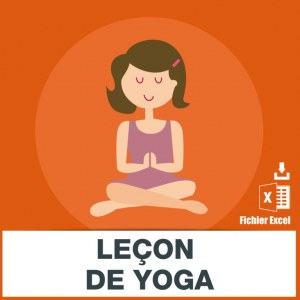 Emails des lecons de yoga