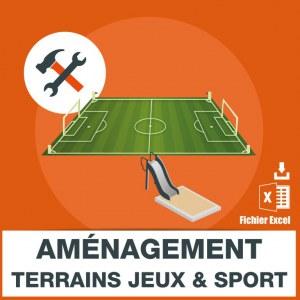 Emails aménagement terrains jeux et terrains de sport