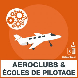 Adresses e-mails aéroclubs et écoles de pilotage
