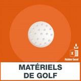 Adresses emails matériel de golf