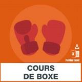 E-mails des cours de boxe