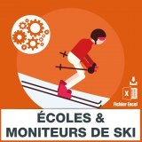 Emails ecoles et moniteurs de ski