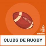Adresses e-mails clubs de rugby