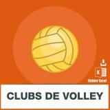 Adresses e-mails clubs de volley