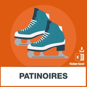 Base adresses e-mails patinoires