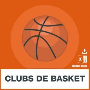 Adresses e-mails clubs de basket
