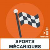 Adresses e-mails sports mécaniques