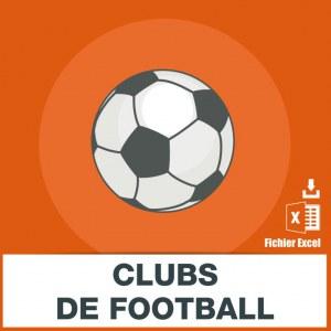 Adresses e-mails clubs de foot