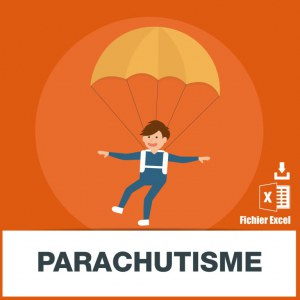 Base adresses e-mails parachutisme