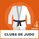 Base adresses e-mails judo