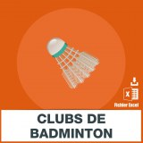 Base adresses e-mails badminton