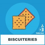 Adresses emails biscuiteries