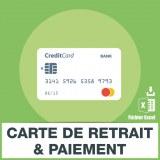 Adresse e-mails cartes de paiement et retrait