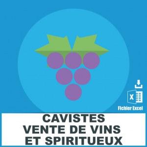 Emails cavistes et vente de vins et spiritueux