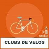 Base adresses emails clubs de vélo