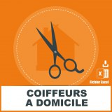 Emails des coiffeurs à domicile
