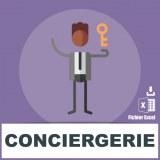 Base adresses emails conciergerie