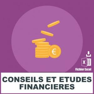 Emails conseils et études financières