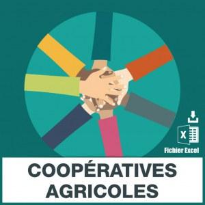 Base adresses emails coopératives agricoles