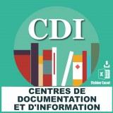 Adresses e-mails centres de documentation et d'information