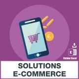 Emails des solutions e-commerce