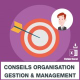 Emails conseils organisation management