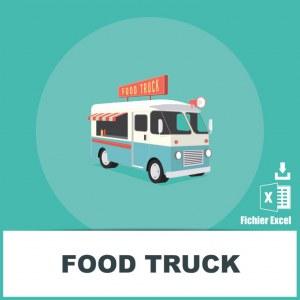 Adresses e-mails food trucks
