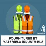 Emails fournitures et matériel industriels