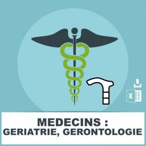 Emails de médecins en gériatrie