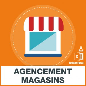 Adresses emails agencement magasins