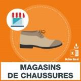 Adresses emails magasins de chaussures
