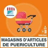 Emails magasins et articles puériculture