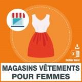 Emails des vêtements pour femmes
