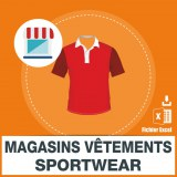 Emails magasins vêtements sportswear