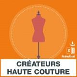 Emails des créateurs haute couture
