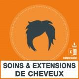 Emails des soins et extensions cheveux