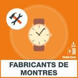 Emails fabricants de montres