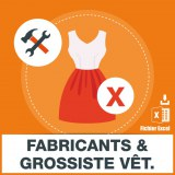 E-mails fabricant grossiste vetements