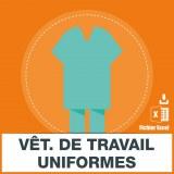 E-mails vêtements de travail uniformes