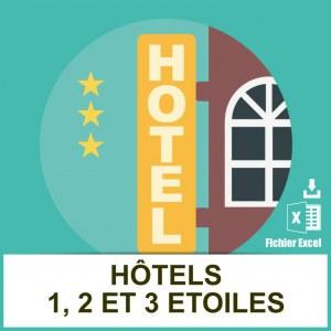 Base adresses emails hotels étoilés