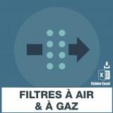 Emails filtres à air et à gaz