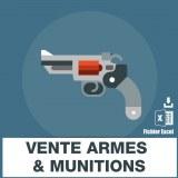 Emails fabricants vente armes munitions