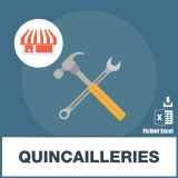 Base adresses emails quincaillerie