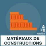 Emails fabrication matériaux construction