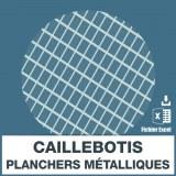 Emails caillebotis planchers métalliques