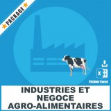 E-mails industries agro-alimentaires