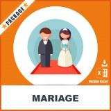 Base adresses e-mails mariage