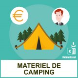 Adresses emails matériel de camping