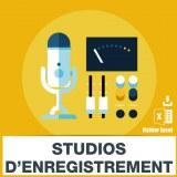 Adresses emails studio enregistrement sonore